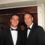 Chris McGill (left) & Martin Thompson (ridiculous hat)