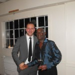 Newton Moss (right) - 4th X1 Player of the Year