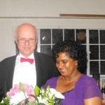 Savitri Thomas receiving a gift for her service to the club in 2010