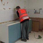 new kitchen being fitted