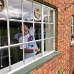 painting windowframes